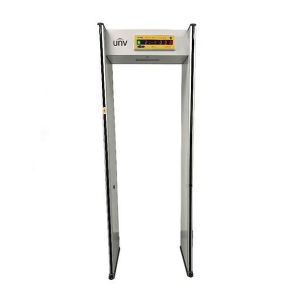 UNIVIEW Bezpečnostná brána, detekcia kovu v 18 zónach, presnosť merania teploty 0,5°,2x senzor merania teploty,display