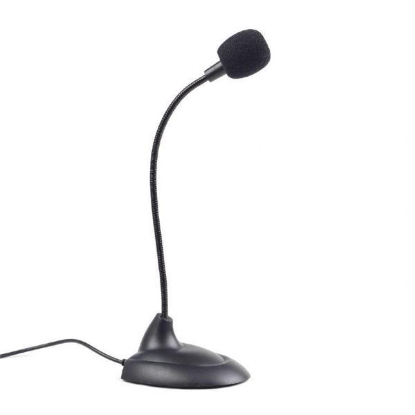 Gembird mikrofón, stolný, 3.5 mm jack, čierny