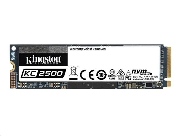 Kingston 2TB KC2500 SSD PCIe Gen3 x4 NVMe M.2 2280 ( r3500MB/s, w2900MB/s )