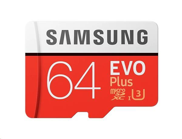 64 GB . microSDXC karta Samsung EVO Plus + adapter