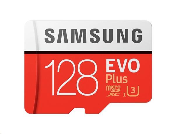 128 GB . microSDXC karta Samsung EVO Plus + adapter