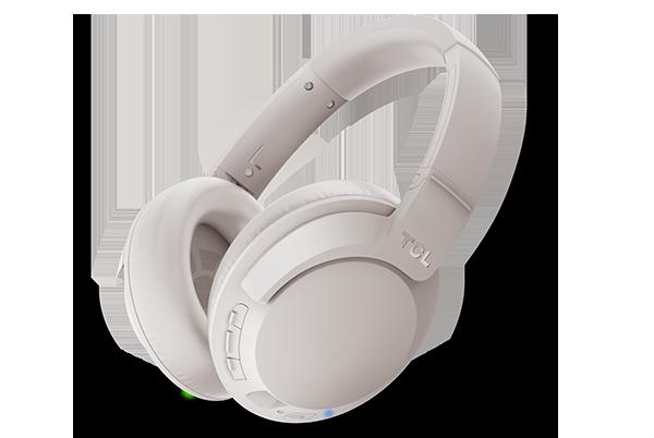 TCL ELIT400NC Bezdrôtové náušné slúchadlá s aktívnym rušením hluku a mikrofónom, doba prehrávania až 30 hodín, šedé