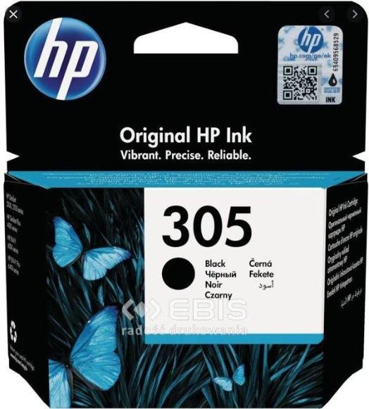 Čierna originálna atramentová kazeta HP 305