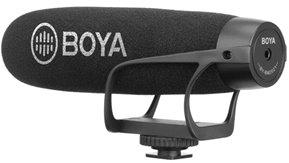 Boya Wired on-camera shotgun microphone for Smartphone and DSLRs