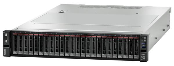 Lenovo Server SR655, 1xAMD EPYC 7282 16C 120W 2.8GHz 120W, 1x32GB 2Rx4, RAID 930-8i 2GB Flash PCIe 12Gb Adapter, 1x750W