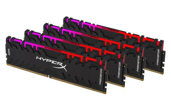 DDR 4.... 64GB . 3600MHz. CL17 HyperX Predator RGB Kingston XMP (4x16GB)