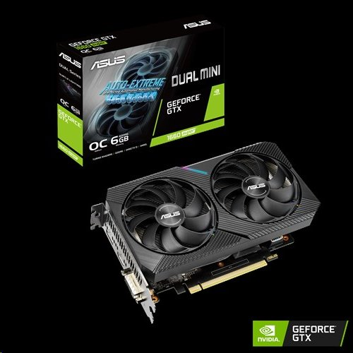 ASUS DUAL-GTX1660S-O6G-MINI 6GB/192-bit, GDDR6, DVI, HDMI, DP
