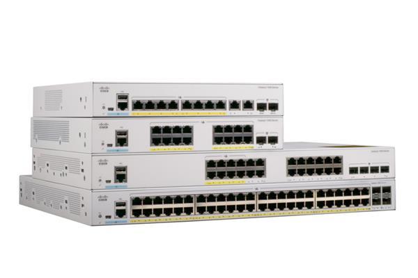 Catalyst 1000 8port GE, Full POE, 2x1G SFP, LANBase