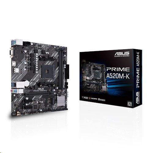 ASUS PRIME A520M-K soc.AM4 A520 DDR4 mATX M.2 D-Sub HDMI