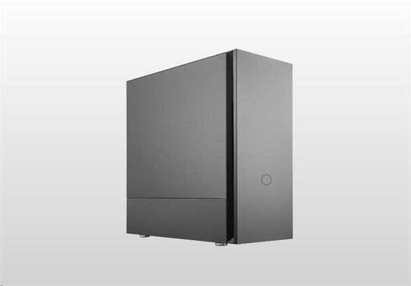 CoolerMaster case Silencio S600 Steel, ATX, USB3.0, Card reader, čierna, bez zdroja