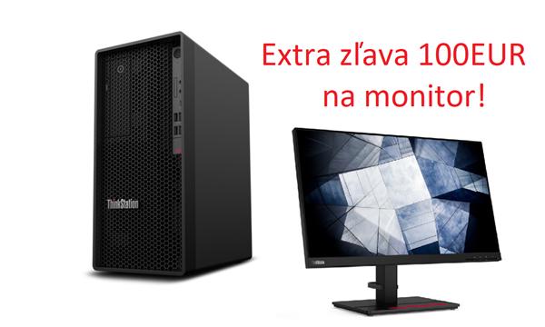 Lenovo TS P340 TWR i7-10700K UMA 16GB 512GB SSD DVD W10Pro cierny 3y OS