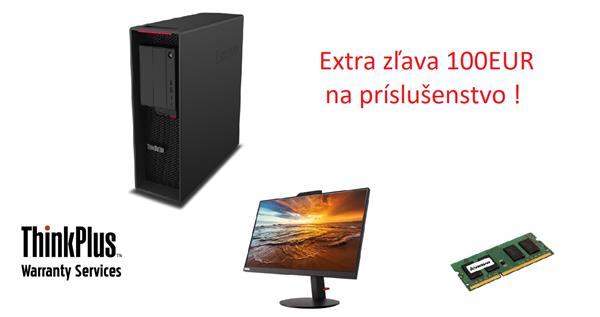 Lenovo TS P340 TWR i7-10700 Nvidia P620/2GB 16GB 256GB SSD DVD W10Pro cierny 3y OS