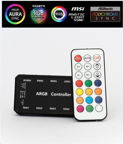 1stCOOL AURA RAINBOW ARGB radič a diaľkové ovládanie