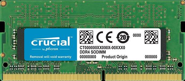 16GB DDR4 2666 MT/s (PC4-21300) CL19 DR x8 Crucial Unbuffered SODIMM 260pin