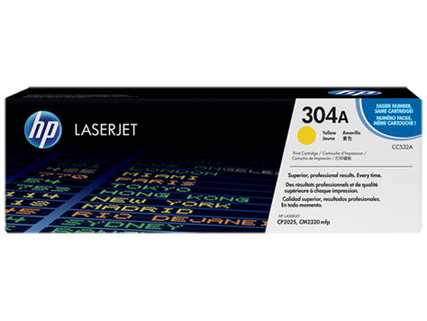 Toner cartridge, yellow pre CP2025 pre 2,800 str.