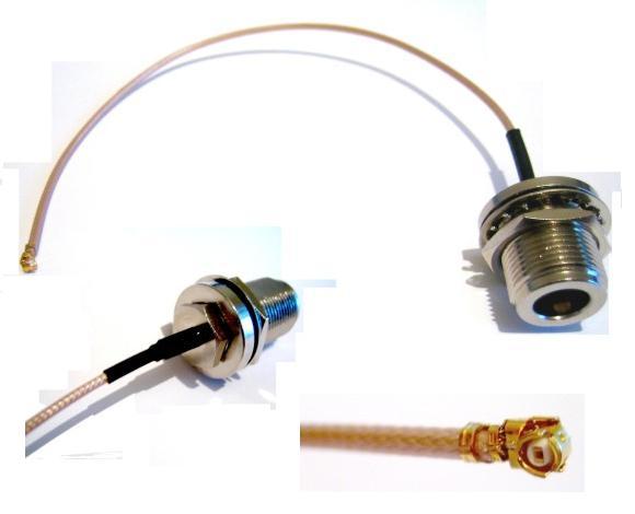 WIFI prepojovací kábel (pigtail) IPAX (UFL) / N-female