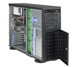 Supermicro® CSE-743TQ-865BSQ Tower/4U chassis 8x hs WhisperQuiet