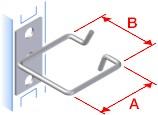 TRITON háčik 40x40 nerez, úchyt na kraji, káblový priechod z boku