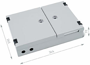 TRITON nástenný optický rozvádzač 24xST, šedá RAL7035