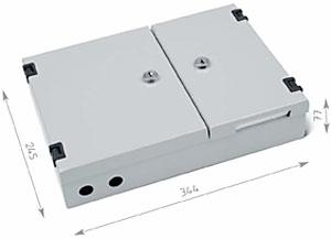 TRITON nástenný optický rozvádzač 16xSC duplex, šedá RAL7035