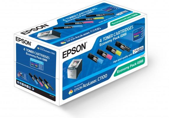 Epson toner AcuLaser C1100 Economy Pack - 4 Toners