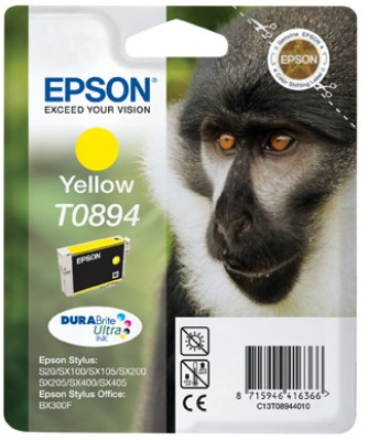 Epson atrament S S20/SX105/SX205/SX405 SO BX300F yellow