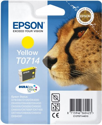 Epson atrament S D120,DX4450,DX7450,DX8450,DX9400 yellow