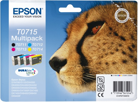 Epson atrament S D120,DX4450,DX7450,DX8450,DX9400 all color