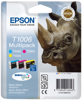 Epson atrament SO B40W/BX600FW; S SX600FW multipack CMY