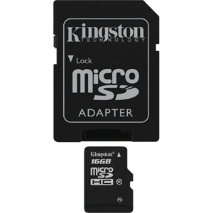 8 GB . microSDHC karta Kingston Class 4 (r/w 4MB/s) + adaptér