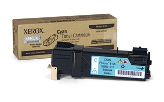 Xerox CYAN TONER CARTRIDGE, PHASER 6125 DMO 1K