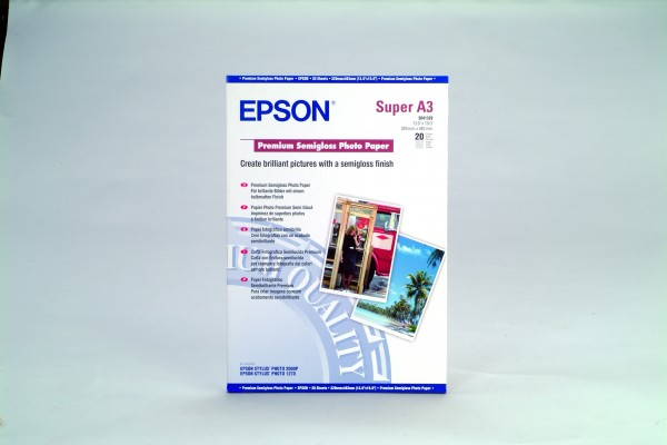 Epson papier Premium Semigloss Photo, 251g/m, A3+, 20ks
