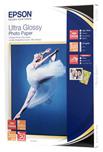 Epson papier Ultra Glossy Photo, 300g/m, 13x18, 50ks