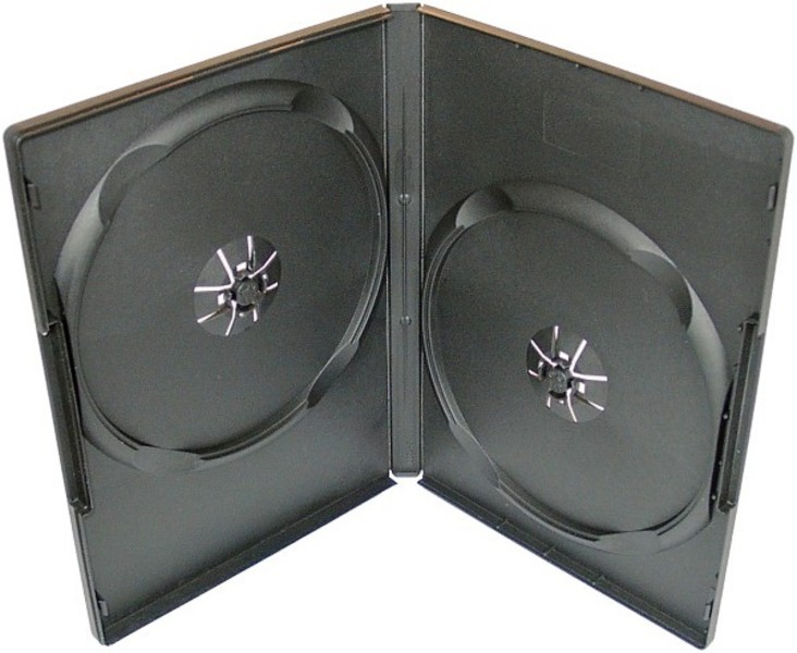 Box na 2 DVD, 14mm, čierny A-kvalita.