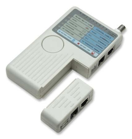 LAN Multi Cable Tester pre dátové siete (RJ11/RJ12/RJ45/BNC/USB)