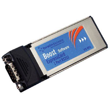 Lenovo Brainboxes VX-001-001 1 Port RS232 ExpressCard Serial Adapter w integrated connector and Megabaud data rate