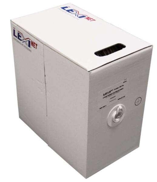 CNS kabel UTP, Cat5E, drát, PVC, Eca, box 305m - šedá