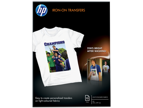 HP Iron-On T-Shirt Transfer A4 (10 sheets)