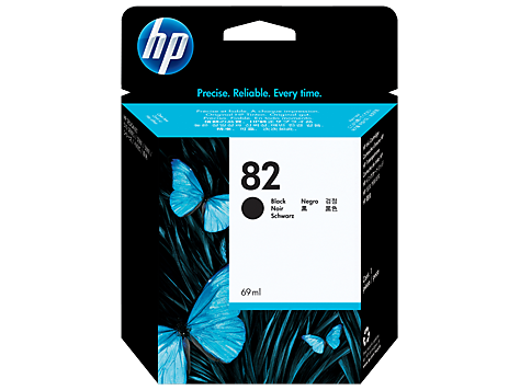 HP No. 82 Black Ink Cartridge (69 ml)