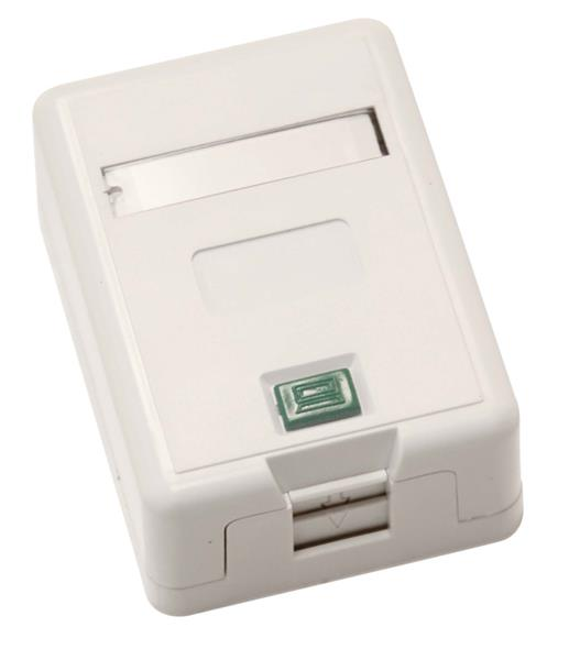 CNS Zásuvka Basic UTP 1 port, Cat6 na om. biela