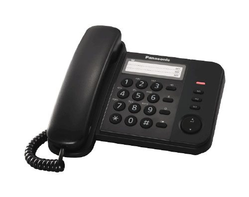 Panasonic KX-TS520FXB jednolinkovy telefon - čierny
