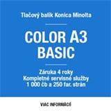 Konica Minolta mesačný paušál za tlačový balík COLOR A3 BASIC (bizhub C227 + kompletný servis a spotr.materiál)