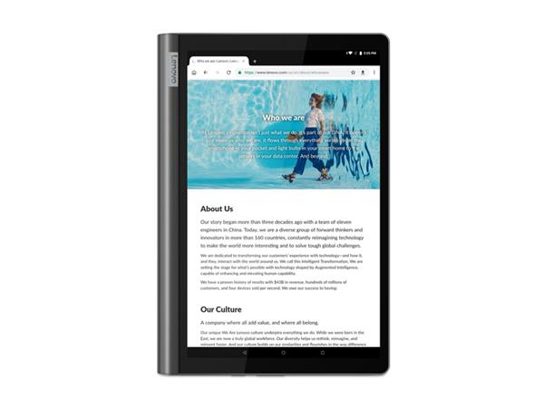 "Lenovo Yoga Smart Tab Snapdragon 439 2.0GHz 10.1"" FHD IPS Touch 4GB 64GB WL BT CAM Android 9.0 sedy 2yMI"
