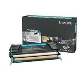 Lexmark C736, X736, X738 Cyan High Yield Return Program Toner Cartridge, 10K