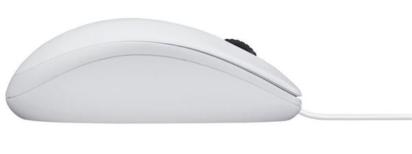 Logitech® B100 Optical Combo Mouse - WHITE - USB - EMEA
