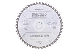 """Metabo Pílový list """"aluminium cut - professional"""", 165x20 Z48 FZ/TZ 5°neg"""