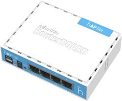 MIKROTIK RouterBOARD hAP lite 941-2nD + L4 (650MHz; 32MB RAM, 4xLAN switch, 1x 2,4GHz plastic case, zdroj)