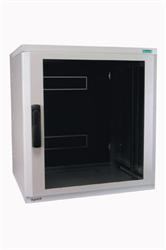 "MOELLER 19"" rozvádzač nástenný 3-D NWE 12U/610mm, skl.dvere, cylindr, šedý"