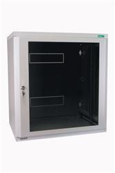 "MOELLER / EATON 19"" rozvádzač nástenný 2-D NWE 9U/410mm, skl.dvere, cylindr, šedý"