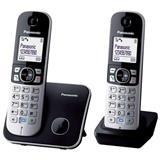 Panasonic KX-TG6812FXB telefon bezsnurovy DECT / cierny 2x